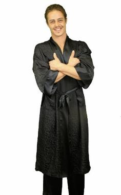 d0d98cfc14232 Nyeez Classic Silk Robe   Kimono Bathrobe Silk Robe Long