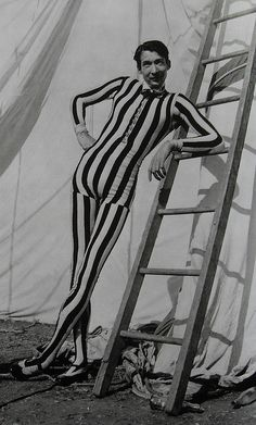 1950s Tall Slim Skinny Man In Striped Circus Performer Oufit Costume by Christian Montone, via Flickr