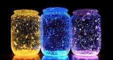 El Yapımı Neon Işıklı Kavanozlar