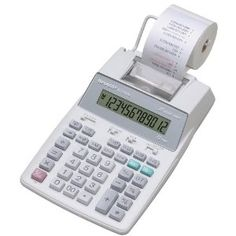 This Sharp EL-1750P is a fairly good printing calculator for the cost.