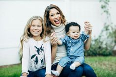 Allison Holker with her children's Weslie & Maddox Boss