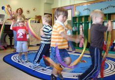 This movement when singing song is good for physical development and social-emotional development of children.