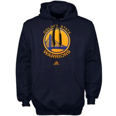 adidas Golden State Warriors Primary Logo Pullover Hoodie - Navy Blue