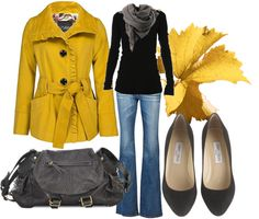 A fashion look from September 2012 featuring slim shirt, mustard yellow coat and stitch's jeans. Browse and shop related looks. Winter Outfits, Casual Outfits, Cute Outfits, Look Fashion, Fashion Outfits, Womens Fashion, Fall Fashion, Mommy Fashion, Fashion 101
