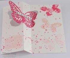 stampin up free video tutorial flip card using butterflies thinlits dies