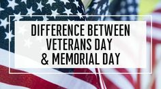 What is the difference between Veterans Day & Memorial Day? Both holidays honor the sacrifices made by active duty, Guard, Reserve troops, & family members.