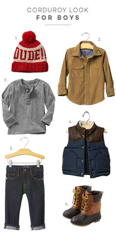 SweetLittlePeanut Boys Corduroy Fall Fashion