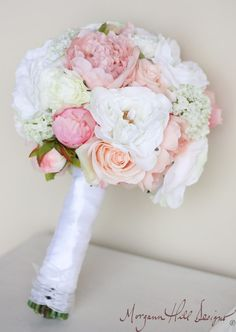 Silk Bride Bouquet Peonies Roses Rustic Chic Wedding ( Item Number 140102) on Etsy, $110.00