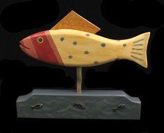 BlueBell Folk Art - whimsical folk art from Vermont: Folk Art Fish - new piece