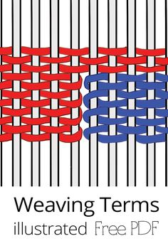 Perfect for beginnings weavers, weaving terms explained in downloadable pdf.