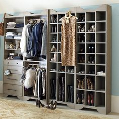 Sarah Storage Tower Double Hanging Rod...maybe do something like this in the closet one day