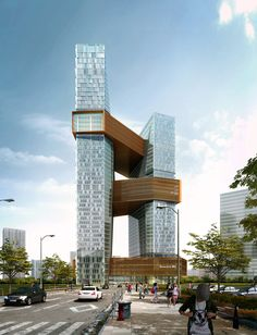NBBJ Designs Towering Shenzhen Campus for Internet Giant,© NBBJ