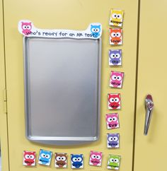 First Grade Shenanigans: ar test or library pass. Owl Classroom Decor, Kindergarten Classroom, Classroom Themes, Classroom Activities, Classroom Organization, Classroom Management, Future Classroom, Classroom Teacher, Behavior Management
