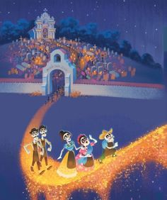 Coco Was Adapted Into a Little Golden Book by Co-Director Adrian Molina and It Is Wonderful Arte Disney, Disney Magic, Disney Art, Best Family Movies Ever, Good Movies, Disney And Dreamworks, Disney Pixar, Disney Illustration, Disney Concept Art