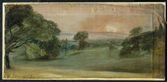 A Landscape near East Bergholt: Evening, John Constable, 1812.  For more information on Constable Country visit www.visitsuffolk.com
