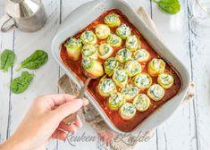 Courgette cannelloni met spinazie en ricotta - Keuken♥Liefde