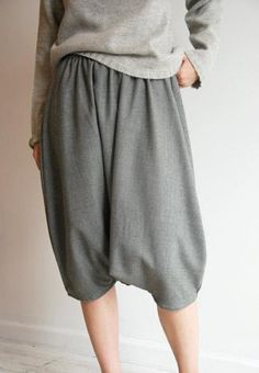 Wool Turkish Pant in Grey