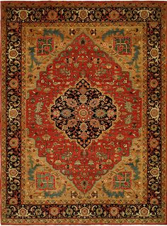 Gorgeously intricate Antique Heriz rug handknotted from 100% wool fibers in India!