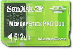 """""""SanDisk - 512MB Memory Stick PRO Duo Gaming Memory Card - Green"""" on Purchx"""