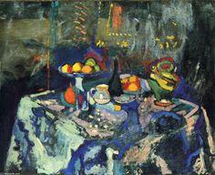 Henri Matisse - Nature morte avec un Vase, Bouteille et fruits