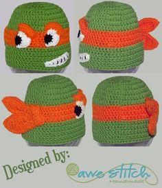 Teenage Mutant Ninja Turtles Inspired - TMNT - A Teenage Turtle Crochet PATTERN INSTANT DOWNLOAD by AweStitch, $3.99