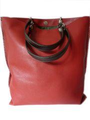 Gajumbo Tote Bag Pebble Grain Red Latte Orange Tan