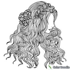 unwashed hair for coloring pages - photo#23