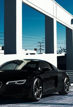 Murdered out Audi R8 with the LED headlights #LED #AutomotiveLEDs #ProFocos