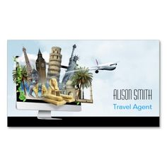 Travel agent business card pinterest business cards business travel agent business card colourmoves