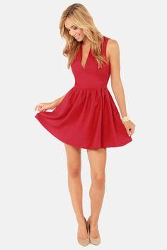 Smiles Per Hour Red Dress at LuLus.com!