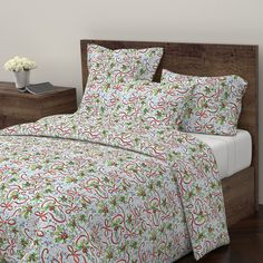 Wyandotte Duvet Cover featuring holly_and_ribbons- by katawampus | Roostery Home Decor