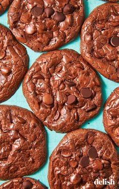 These cookies are SO thin and crispy. Get the recipe at Delish.com. #flourless #fudge #cookies #desserts #easy #chocolate #delish #eggwhites