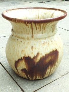 Retro Drip Glaze Ceramic Planter - Large, Deep Flower Pot Bowl in ...