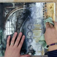 "One of the questions I often get from my art journaling students is ""How to prevent my journal pages from sticking together?"" There's a very simple and easy little trick that I use and it works like magic! I'm sharing it on my blog in a quick video so your beautiful pages never have to stick again."
