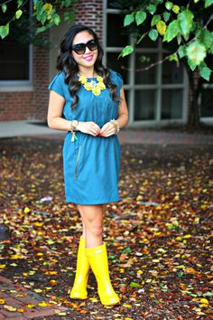Teal the Moment Hunter Boots Outfit, Black Hunter Boots, Casual Winter Outfits, Casual Fall, Fall Outfits, Wellies Rain Boots, Hunter Wellies, Dress Outfits, Fashion Outfits