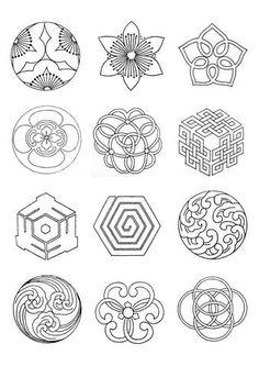 Japanese Patterns, Japanese Design, Baroque Frame, Stencils, Estilo Hippie, Japanese Embroidery, Quilting, Motif Floral, Japan Art