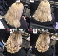 Platinum to blonde balayage
