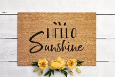 Hello Sunshine Welcome Mat Door Mat Housewarming Gift New Home Gift Special Doormat Coir Mat Outdoor