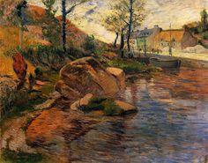 Cove opposite Pont Aven Harbor 1888   Paul Gauguin   oil painting #OilPaintingNature