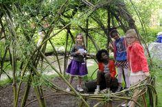 Wilgenhutjes zijn gemaakt uit wilgentenen, het snoeiafval van knotwilgen. Maak je wilgenhut in de winter en ze kleurt vanaf de lente groen.