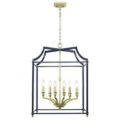 Golden Lighting Leighton Satin Brass Lantern Pendant Light at Lowe's. Leighton is a transitional and sleek minimalistic design. These attractive open-cage lanterns are two-toned and offered in multiple color combinations. Lantern Pendant Lighting, Brass Lantern, Candle Chandelier, Chandeliers, Blue Pendant Light, Square Chandelier, Light Bulb Bases, Ceiling Lights, Color Combinations