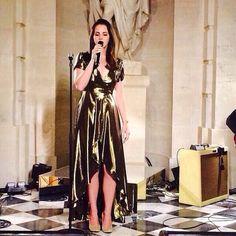 Lana Del Rey performing at Kim & Kanye's wedding rehearsal at Versailles today!