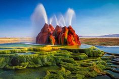 Fly Geyser, also known as Fly Ranch Geyser is a small geothermal geyser located on private land in Washoe County… by Have A Great Vacation, Great Vacations, Vacation Ideas, Hotel Secrets, Hotel Stay, Online Travel, Natural Wonders, Best Hotels, Luxury Hotels