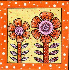 Doodle flowers | by dots 'n' doodles