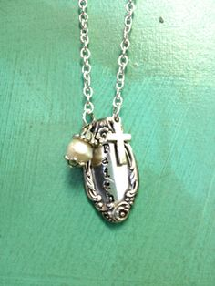 Faith Stamped Spoon Handle Pendant by erinschock on Etsy, $28.00