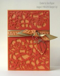 Floral birthday card using supplies from Stampin' Up! www.craftingandstamping.com #stampinup