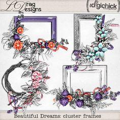 Beautiful Dreams: Cluster Frames by LDrag Designs