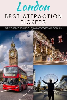 Finding the best attraction tickets for London doesn't need to be hard. This post is full of the best London attraction tickets. #london #visitlondon #londonuk London Tours, Tower Of London, London Travel, London Must See, London With Kids, Things To Do In London, Attraction Tickets, London Attractions