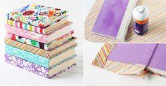 Los libros forrados en tela son piezas decorativas que pueden darle un aspecto totalmente renovado a aquellos que están viejos o gastados, de una manera fácil, divertida y económica. Incluso,...