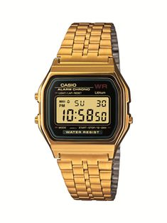 The Casio Gold Edition Vintage Digital Watch features a classic style with modern appeal. Casio Digital, Mens Digital Watches, Men's Watches, Retro Watches, Vintage Watches, Watches For Men, Gold Watches, Quartz Watches, Analog Watches